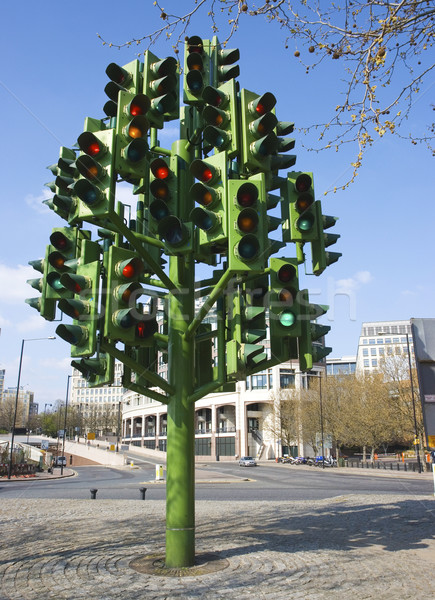 Confusion of many traffic lights Stock photo © stuartmiles