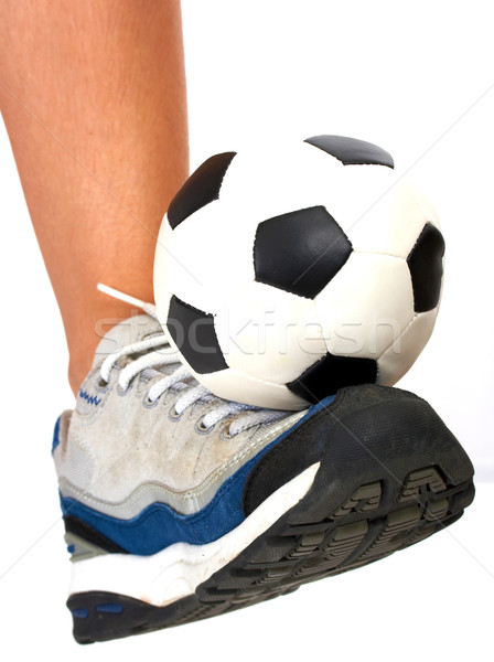 Soccer Ball Being Kicked By A Kid Stock photo © stuartmiles