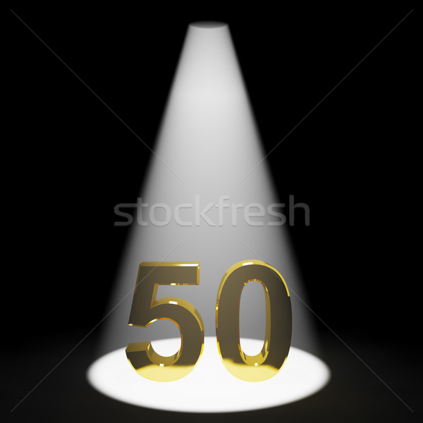 Gold 50th 3d Number Representing Anniversary Or Birthday Stock photo © stuartmiles
