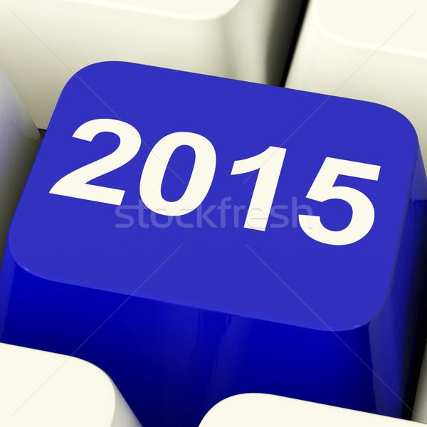 2015 キー キーボード 年 2 千 ストックフォト © stuartmiles