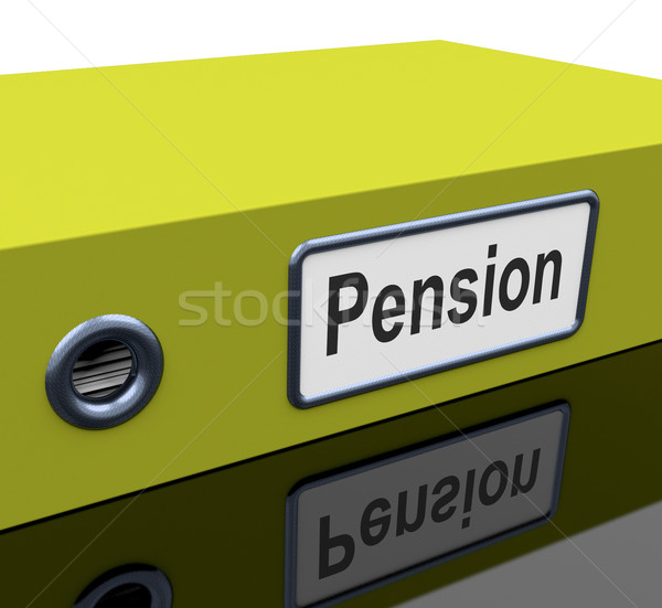 Pension File Contains Retirement Documents And Records Stock photo © stuartmiles