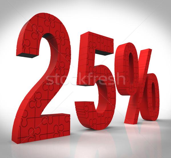 25 puzzle mutat ajándék utalvány megtakarított pénz Stock fotó © stuartmiles