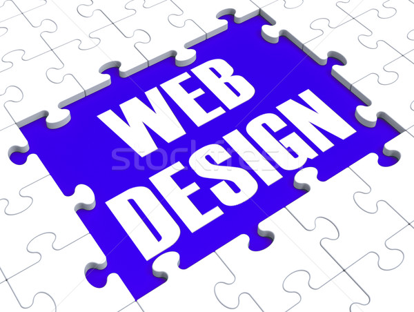 Web Design Puzzle Shows Website Content Stock photo © stuartmiles