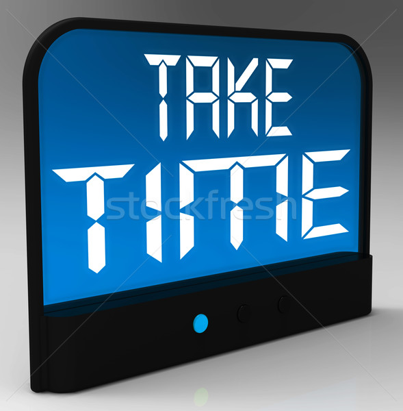 Stock photo: Take Time Clock Means Rest And Relax