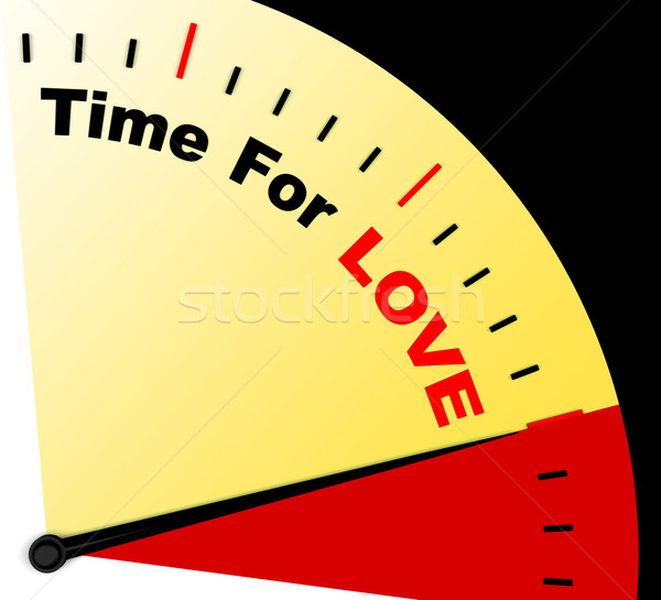 Tiempo amor mensaje significado romance sentimientos Foto stock © stuartmiles