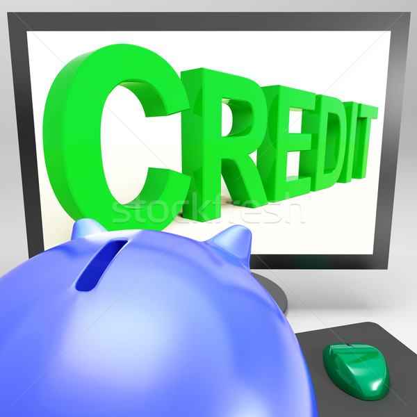 Credit On Monitor Showing Money Loan Stock photo © stuartmiles