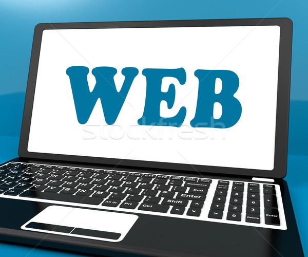 Web laptop online internet www net Stockfoto © stuartmiles