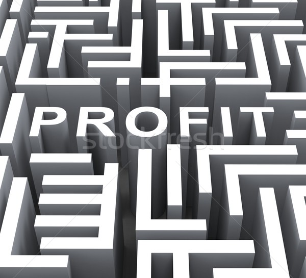 Profit Word Shows Financial Revenue Or Earnings Stock photo © stuartmiles