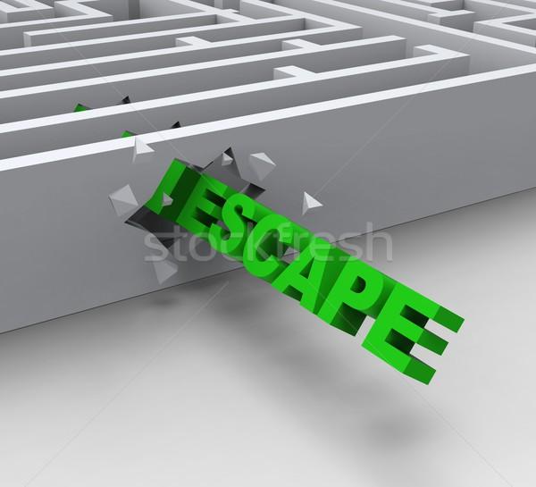 Flucht Labyrinth kostenlos Gefängnis Stock foto © stuartmiles