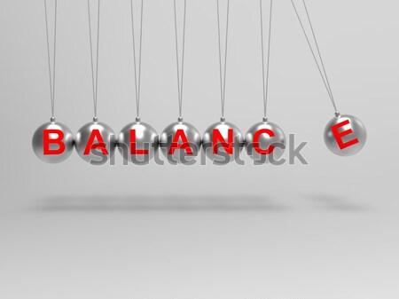 Egyensúly gömbök mutat kiegyensúlyozott élet egyensúly Stock fotó © stuartmiles