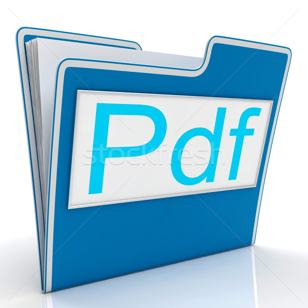 Pdf File Shows Documents Format Or Files Stock photo © stuartmiles