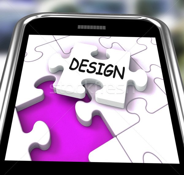 Design Smartphone Means Online Designing And Planning Stock photo © stuartmiles