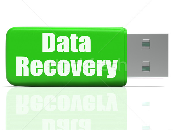 Data Recovery Pen drive Means Safe Files Transfer Or Data Recove Stock photo © stuartmiles