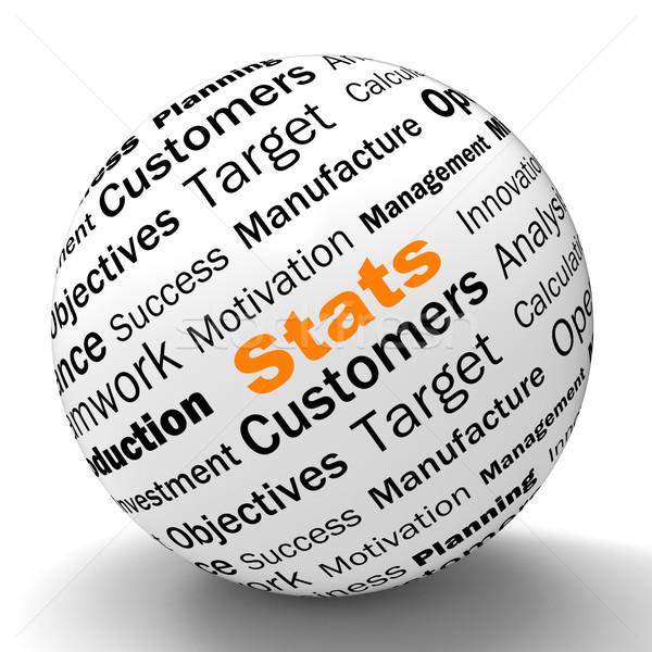 Statisztika gömb meghatározás üzlet jelentések mutat Stock fotó © stuartmiles