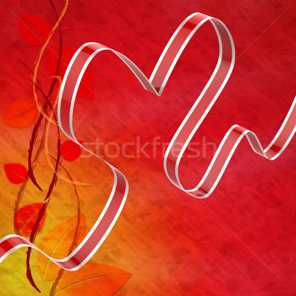 Szalag szív szeretet vonzalom attrakció jelentés Stock fotó © stuartmiles