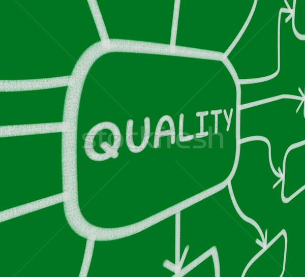 Qualidade diagrama condição significado Foto stock © stuartmiles