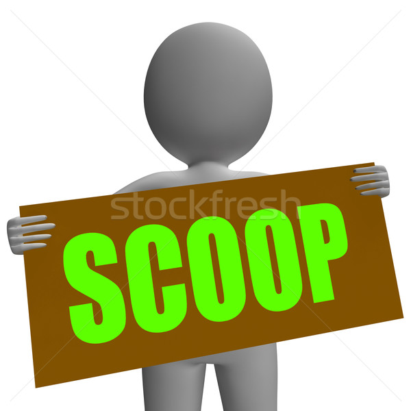 Scoop Sign Character Means Gossipmonger Or Intimate Tatter Stock photo © stuartmiles