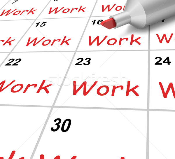 Calendar Photography Jobs : Travaux · calendrier emploi métier photo stock