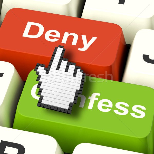Denial Deny Keys Shows Guilt Or Denying Guilt Online Stock photo © stuartmiles