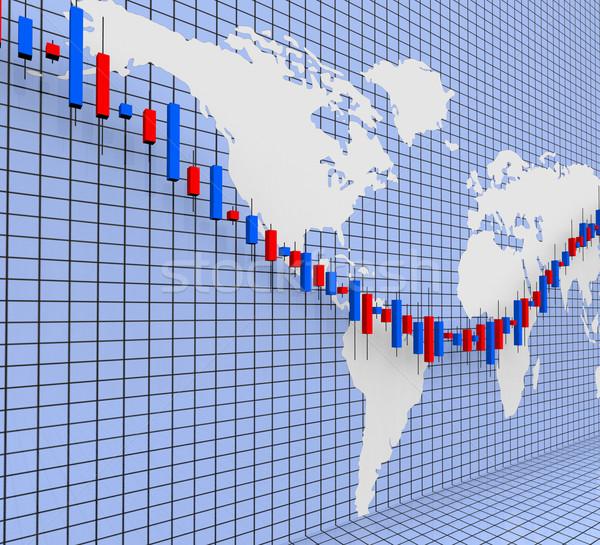 Gráfico mundo amplio financiar bolsa beneficio Foto stock © stuartmiles