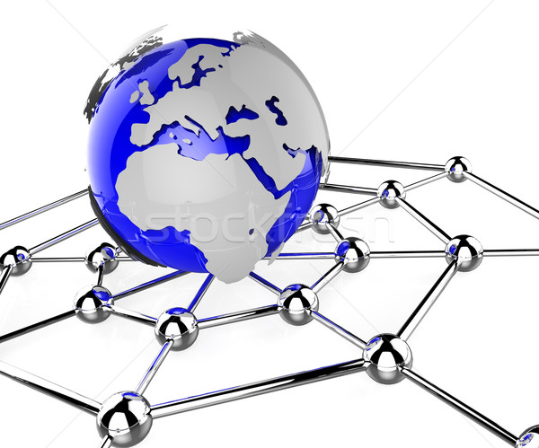 Worldwide Network Means Global Communications And Computing Stock photo © stuartmiles