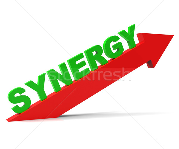 Increase Synergy Indicates Working Together And Collaborate Stock photo © stuartmiles