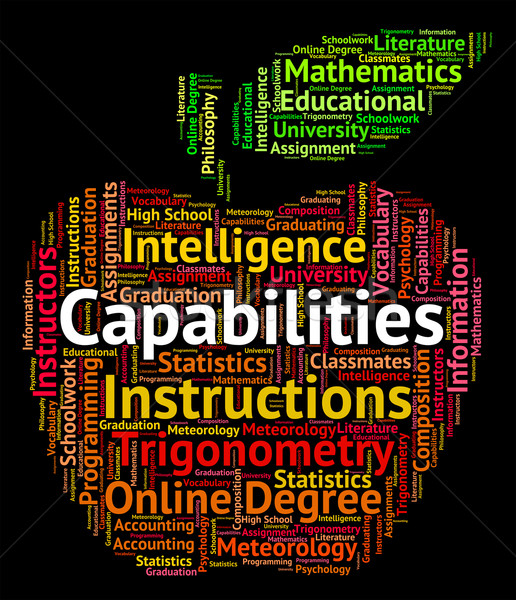 Capabilities Word Means Proficiency Words And Potential Stock photo © stuartmiles
