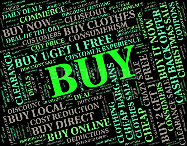 Buy Word Shows Buying Words And Retail Stock photo © stuartmiles