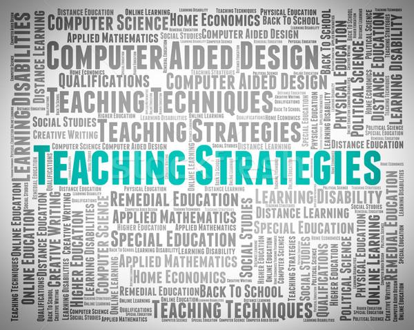Ensino estratégias estratégia de negócios treinador planos Foto stock © stuartmiles