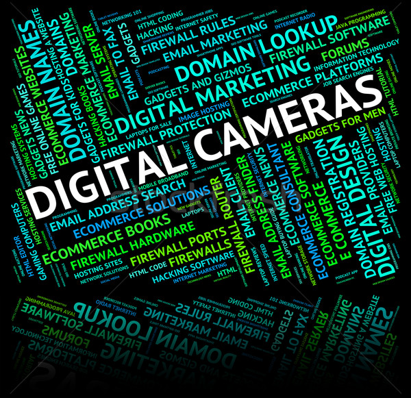 Digital Cameras Shows High Tec And Picture Stock photo © stuartmiles