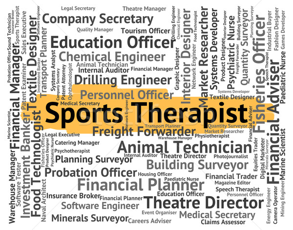 Sports Therapist Means Sporting Work And Job Stock photo © stuartmiles