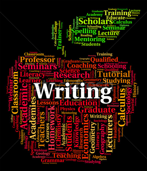 Writing Word Means Script Write And Pen Stock photo © stuartmiles