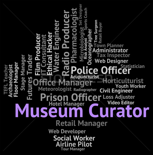 Muzeum archiwum pracy znaczenie zawód rekrutacja Zdjęcia stock © stuartmiles