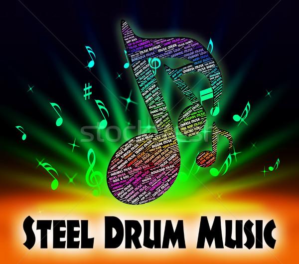ストックフォト: 鋼 · ドラム · 音楽 · サウンド · トラック · ドラム