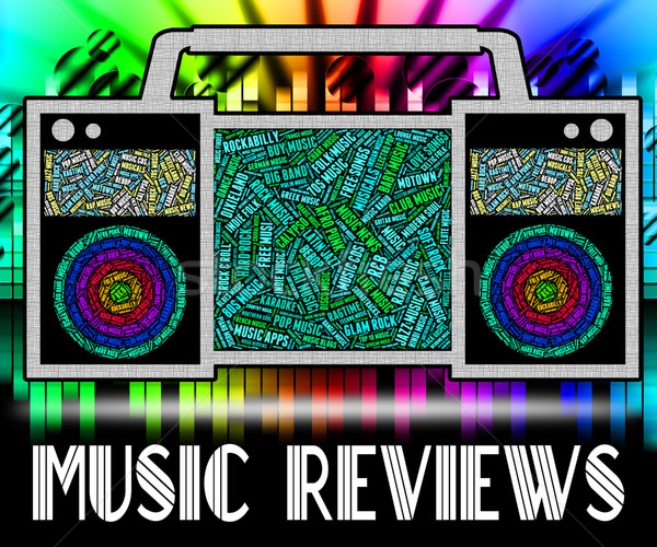 Music Reviews Represents Sound Track And Acoustic Stock photo © stuartmiles