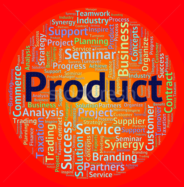 Product Word Means Wordclouds Stocks And Words Stock photo © stuartmiles