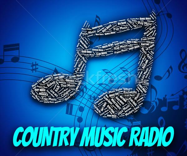Country Music Radio Shows Sound Tracks And Audio Stock photo © stuartmiles