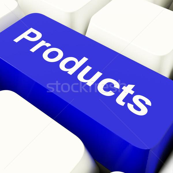 製品 コンピュータ キー 青 インターネットショッピング ストックフォト © stuartmiles