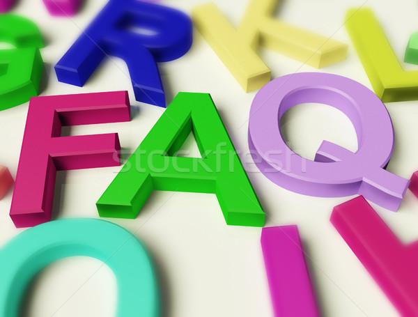 Lettere ortografia faq simbolo domande risposte Foto d'archivio © stuartmiles
