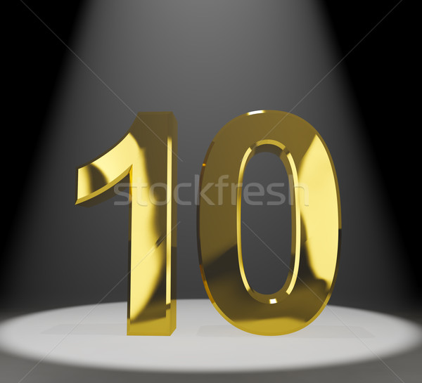 Altın 3D numara yıldönümü doğum günü Stok fotoğraf © stuartmiles
