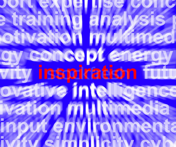 Inspiration Word Zooming Showing Positive Thinking And Encourage Stock photo © stuartmiles