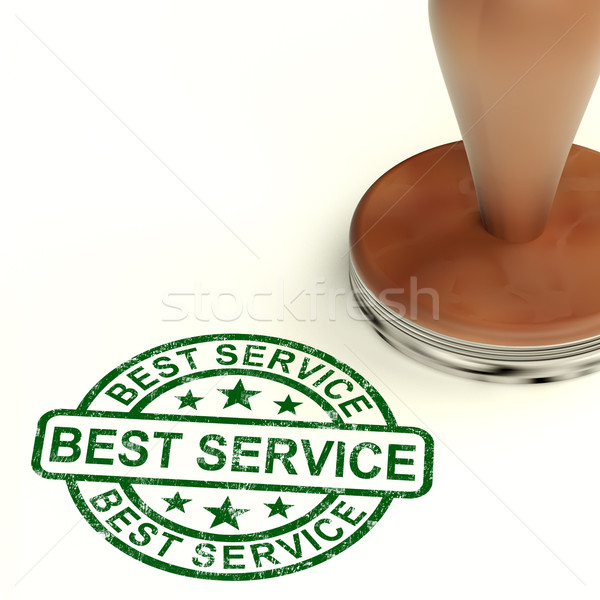 Best Service Stamp Showing Top Customer Assistance Stock photo © stuartmiles