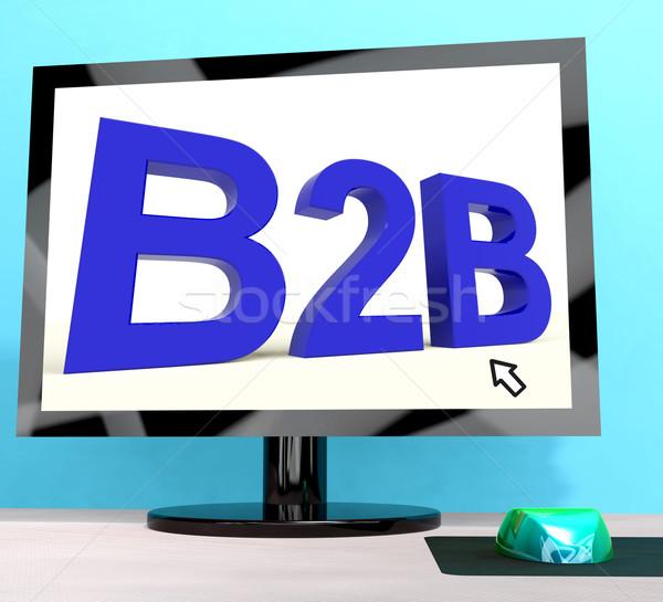B2b palavra computador negócio comércio Foto stock © stuartmiles