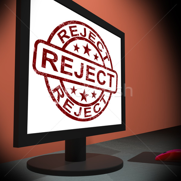 Reject On Monitor Shows Disallowed Stock photo © stuartmiles