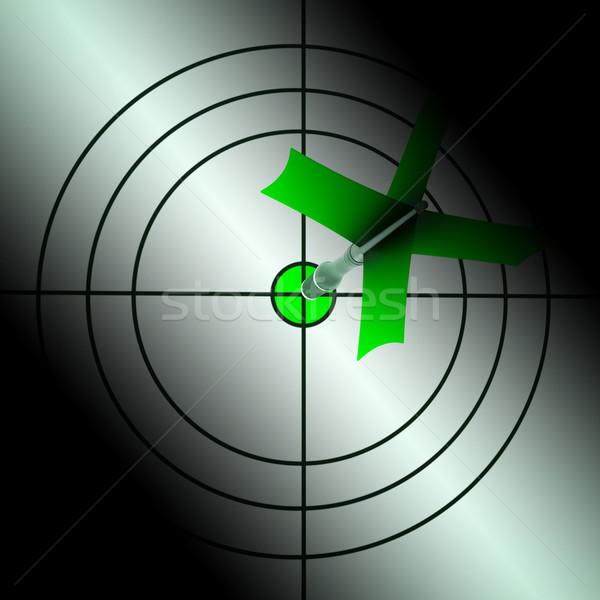 Arrow Dartscheibe Vollkommenheit Scharfeinstellung Stock foto © stuartmiles