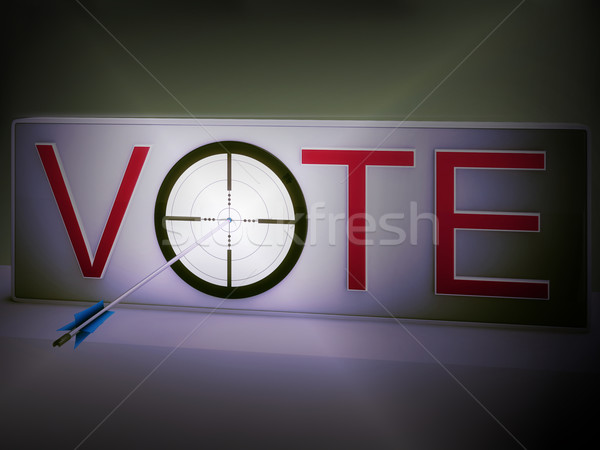 Vote Target Means Evaluation Choice And Decision Stock photo © stuartmiles