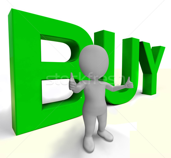 Buy Letters As Sign for Commerce And Purchasing Stock photo © stuartmiles