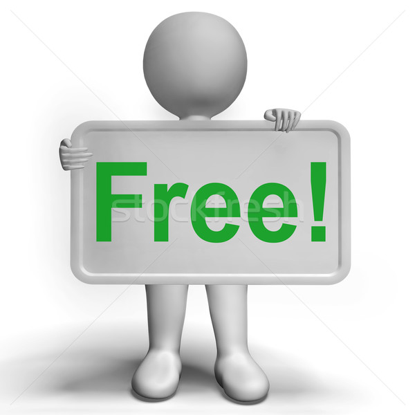 Free Sign Shows Freebie Gratis and Promotion Stock photo © stuartmiles