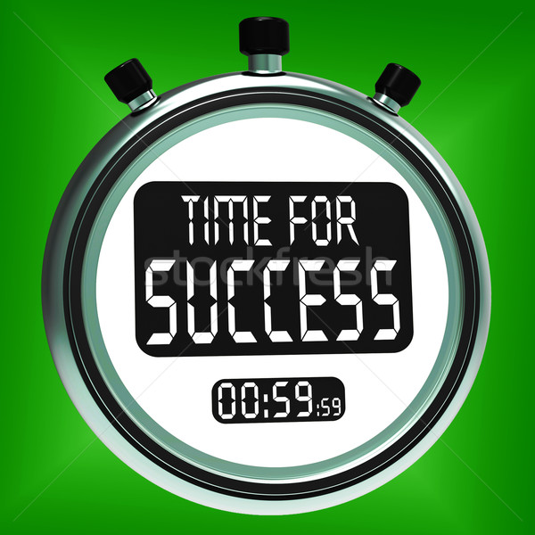 Time For Success Message Means Victory And Winning Stock photo © stuartmiles