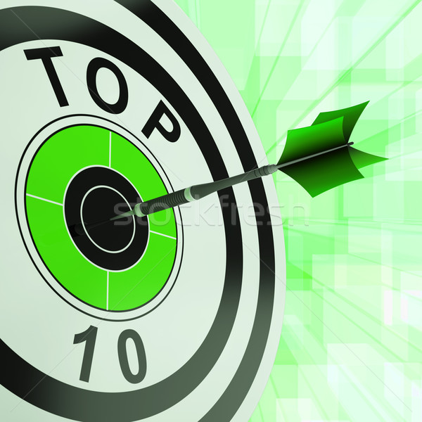 Felső tíz cél sikeres rangsor díj Stock fotó © stuartmiles